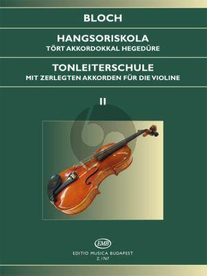 Bloch Scale Studies Op.5 Vol.2 Violin (Tonleiterschule Violine)