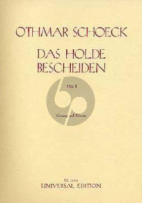 Scheock Das Holde Bescheiden Op.62 Vol.2 Gesang-Klavier (Eduard Möricke)