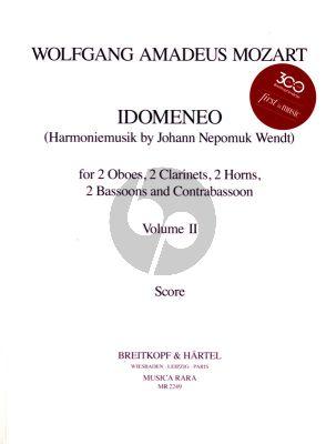 Idomeneo KV 366 Vol. 2 2 Ob.- 2 Clar.- 2 Hrns- 2 Bsns and Contrabsn