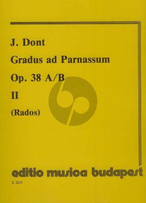 Dont Gradus ad Parnassum Op.38 Vol.2 Violin (Intermediate Exercises with 2nd. Violin) (Rados)