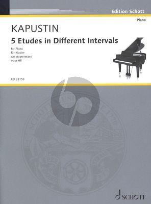 Kapustin 5 Etudes in different Intervals Op. 68 Piano