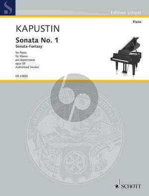 Kapustin Sonata no.1 (Sonata-Fantasia) Op.39 Piano solo