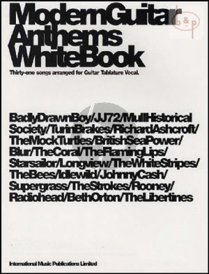 Modern Guitar Anthems White Book (31 Songs)