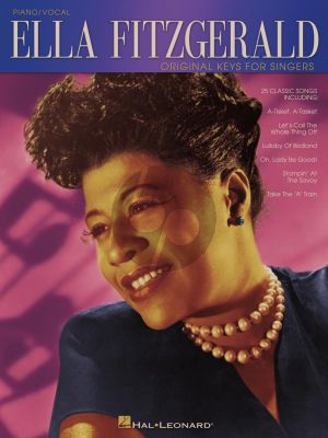 Fitzgerald Ella Fitzgerald Original Keys for Singers Piano/Vocal/Guitar (25 Classic Songs)