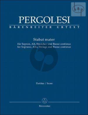 Stabat Mater Sopr.-Alto Voice-Strings-Bc Full Score (lat.)