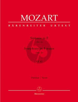 Mozart Symphonie F-dur KV 43 (No.6) Orchester Partitur