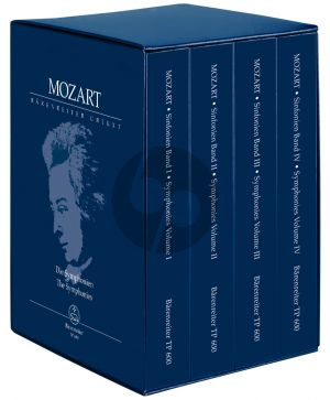 Mozart Symphonies (Complete in a Slipcase) (Study Score)