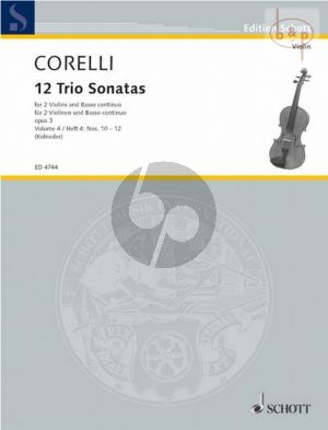 12 Triosonatas Op.3 Vol.4 (No.10 - 12) (2 Vi.-Bc)