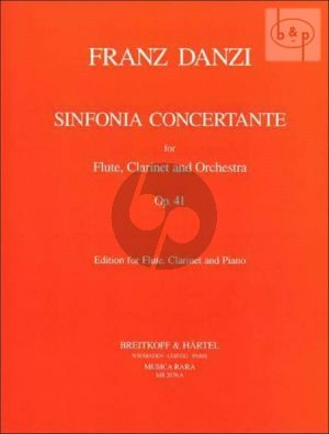 Stamitz Sinfonia Concertante Op.41 B-flat Major Flute-Clarinet-Piano (edited by John P.Newhill)