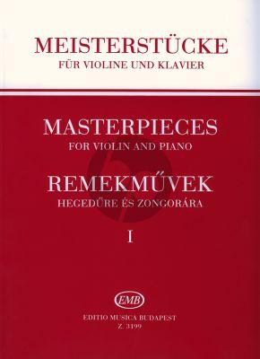 Album Masterpieces Vol.1 for Violin and Piano