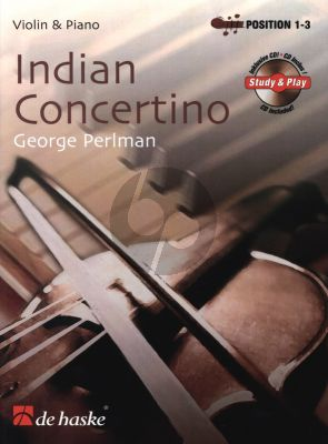 Perlman Indian Concertino for Violin (Bk-Cd) (1st Position) (An Indian Story) (De Haske)