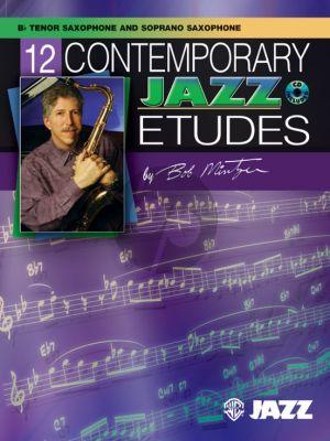 Mintzer 12 Contemporary Jazz Etudes for Tenor- or Soprano Saxophone (Bk-Cd)