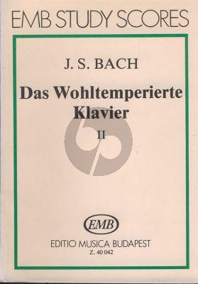 Bach Das Wohltemperierte Klavier Vol.2 (Study Score) (edited by István Lantos)
