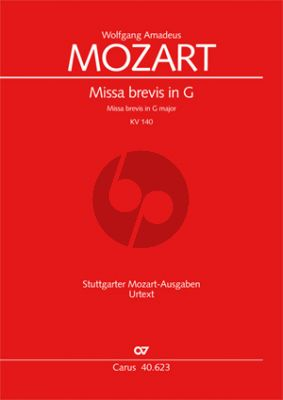 Mozart Missa Brevis G-dur KV 140 Soli-Chor-Orch. Partitur