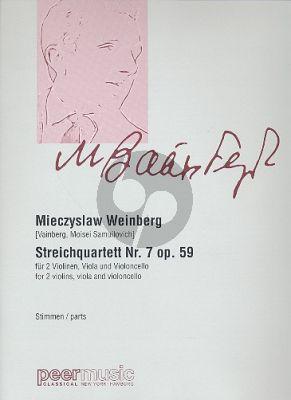 Weinberg Streichquartett No.7 Op.59 Stimmen