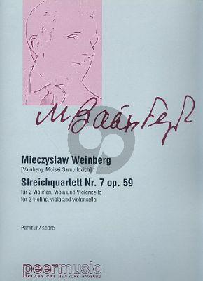 Weinberg Streichquartett No.7 Op.59 Partitur