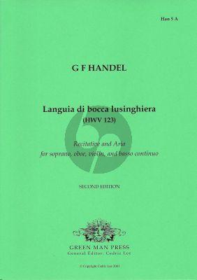 Handel Languia di bocca lusinghiera HWV 123 (Soprano- Oboe-Violin-Bc)