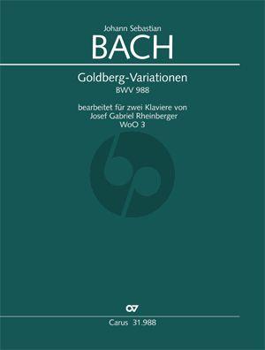 Bach Goldberg Variationen (Aria mit 30 Veränderungen) BWV 988 2 Klaviere