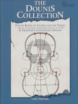 Dounis Collection of Studies (Op.12, 15 Vol.1-2, 16 Vol.1-2, 18, 20, 21, 27, 29 and 30)
