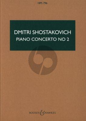 Shostakovich Concerto No. 2 Op. 102 Piano-Orchestra Study Score