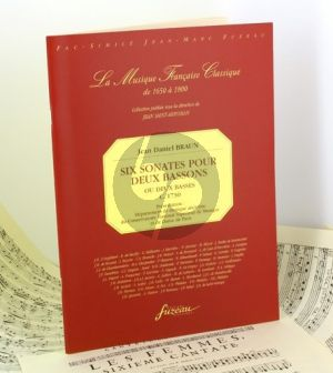 Braun 6 Sonates 2 Bassons [2 Basses] (facsimile c. 1730)