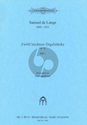 Lange 12 Leichtere Orgelstucke Op. 56 Vol.1
