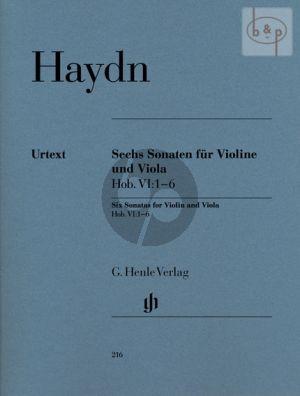 6 Sonaten (Hob.VI:1 - 6) Violine-Viola