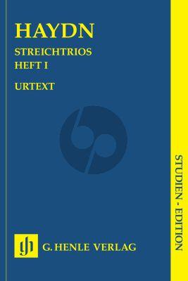 Haydn Streichtrios Vol.1 2 Violins-Basso (Study Score) (Henle-Urtext)