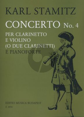 Stamitz Concerto No.4 Clarinet and Violin (or 2 Clar.)-Piano (edited by György Balassa)