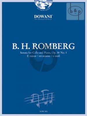 Romberg Sonata E-Minor Op.38 No.1 Cello and Piano (Bk-Cd) (Jansen) (Dowani 3 Tempi Play-Along)