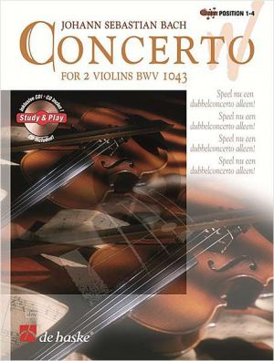 Bach Concerto D-Minor BWV 1043 (Bk-Cd) (Position 1-4) (Double Concerto for One or Two Violinists) (grade 4-5)