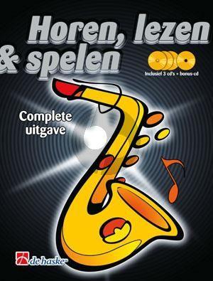 Kastelein-Oldenkamp Horen Lezen Spelen Altsax. 3 delen kompleet (Boek-4 CD's)