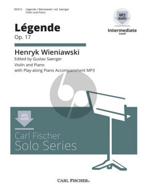 Wieniawsky Legende Op.17 Violin-Piano (Book with Download Code) (Edited by Gustav Saenger) (Intermediate Level)
