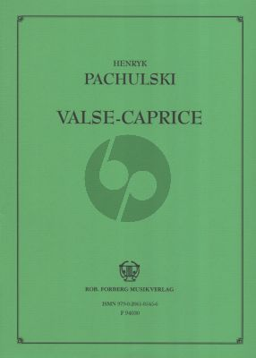 Pachulski Valse Caprice Op. 6 Piano solo