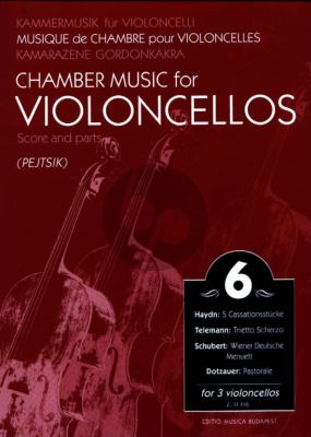 Chamber Music for Violoncellos Vol.6 (3 Vc) (Score/Parts) (Arpad Pejtsik)