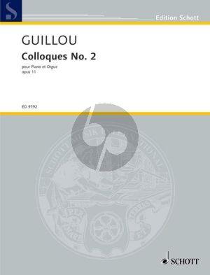 Guillou Colloque No. 2 Op. 11 Piano and Organ (1964)