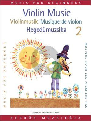 Violin Music for Beginners Vol. 2 (edited by Gabriella Lenkei)