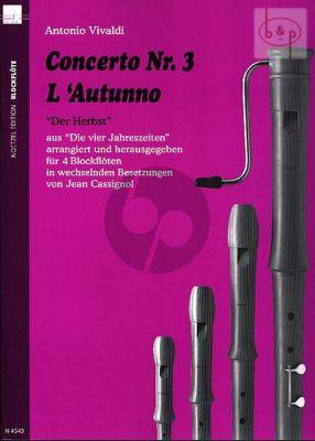Concerto Op.8 No.3 (RV 293) (L'Autunno) (SATB/ ATBB/AATB or other combinations)