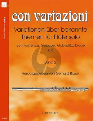 Con Variazioni Vol.2 Flöte solo