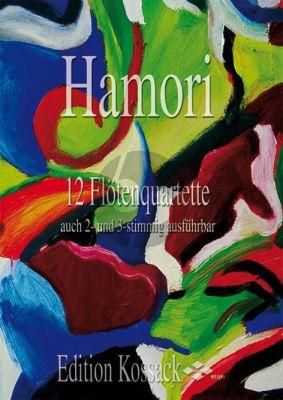 Hamori 12 Flute Quartets (4 Flutes) (Score/Parts)