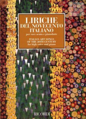 Italian Art Songs of the 20th.Century High Voice-Piano
