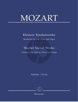 Mozart Kleinere Kirchenwerke (Soli-SATB-Orgel) Partitur