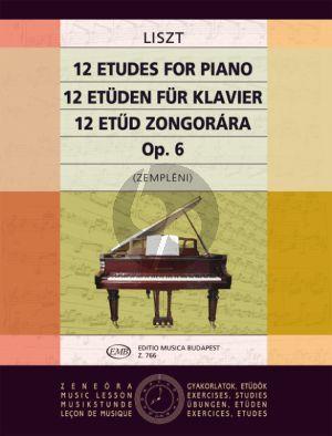12 Studies Op. 6 (ex Op.1) Piano solo