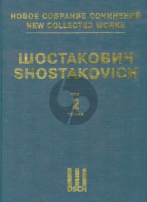 Shostakovich Symphony No.2 Op.14 Full Score (New collected works of Dmitri Shostakovich. Vol. 2)
