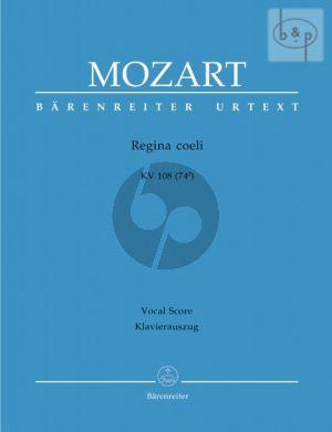 Regina coeli C-major KV 108 (74d) Sopr.-SATB-Orch. Vocal Score