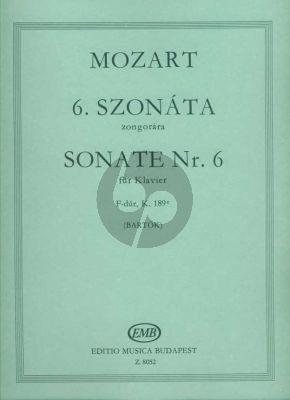 Mozart Sonata F-major KV 189E Piano solo (edited by Bela Bartok)