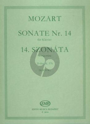 Mozart Sonata D-major KV 576 Piano solo (edited by Bela Bartok)