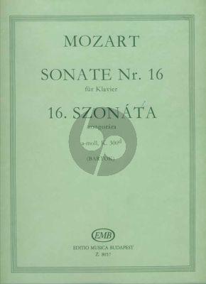 Mozart Sonata a-minor KV 300D Piano solo (edited by Bela Bartok)