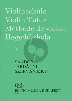 Sandor Violin Method Vol.5 (Violinschule - Violin Tutor)