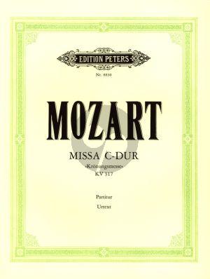 Mozart Kronungsmesse KV 317 Soli-Chor-Orchester (Partitur) (Klaus Burmeister)